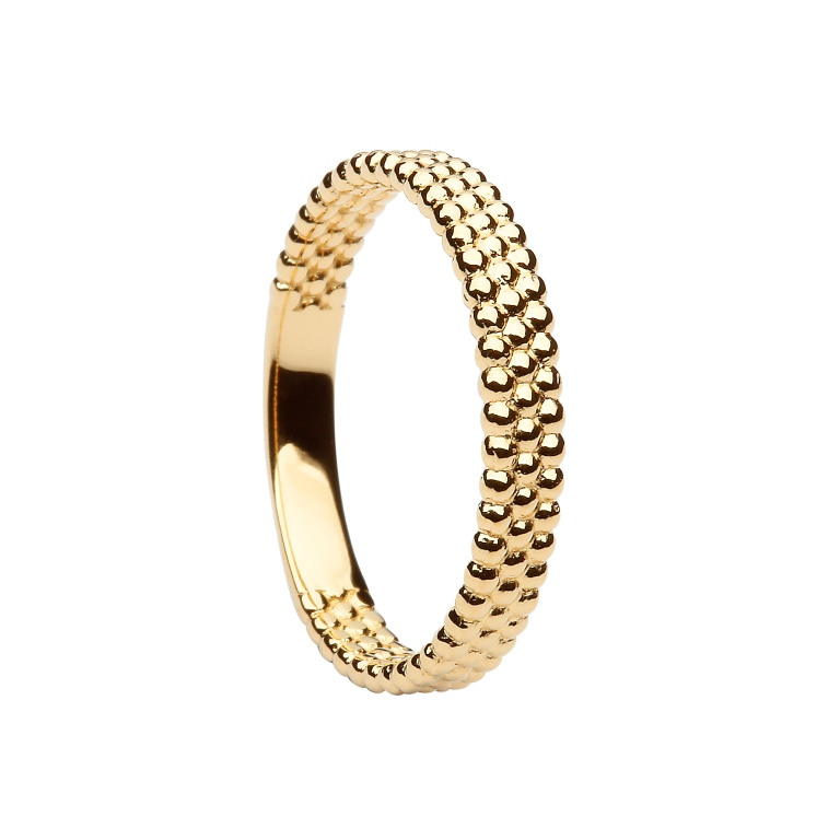 Shamrock Stacking Ring yellow gold