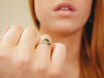Claddagh ring greenstone