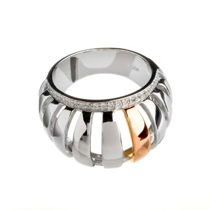 Gold Silver Chunky Ring