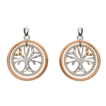 celtic tree of life earrings gold silver