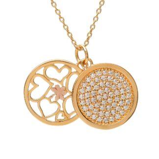 gold double pendant