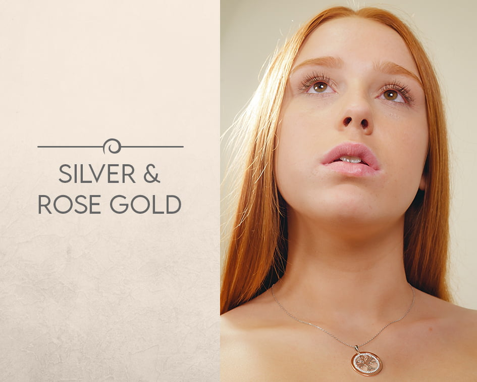 silver and rose gold jewellery